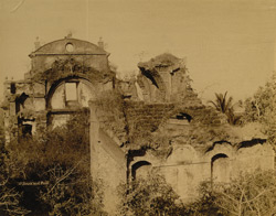 Ruined church, Goa.